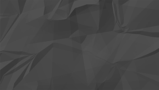 Zwarte verfrommeld leeg papier textuur achtergrond