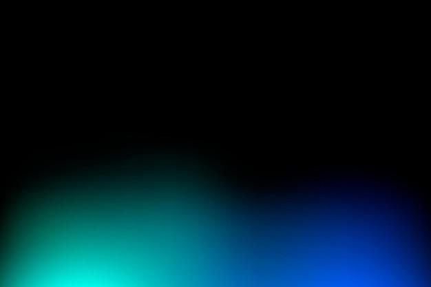 Zwarte vervaagde achtergrond met kleurovergang en blauwe rand