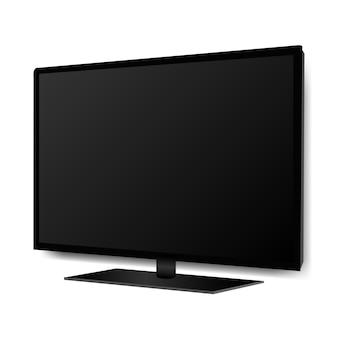 Zwarte vier k monitor tv geïsoleerd