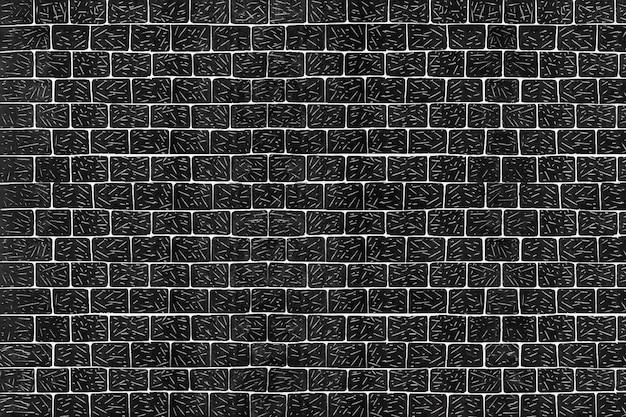 Zwarte vintage bakstenen muur patroon achtergrond, remix van kunstwerken van samuel jessurun de mesquita