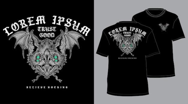 Zwarte vleermuis tshirt
