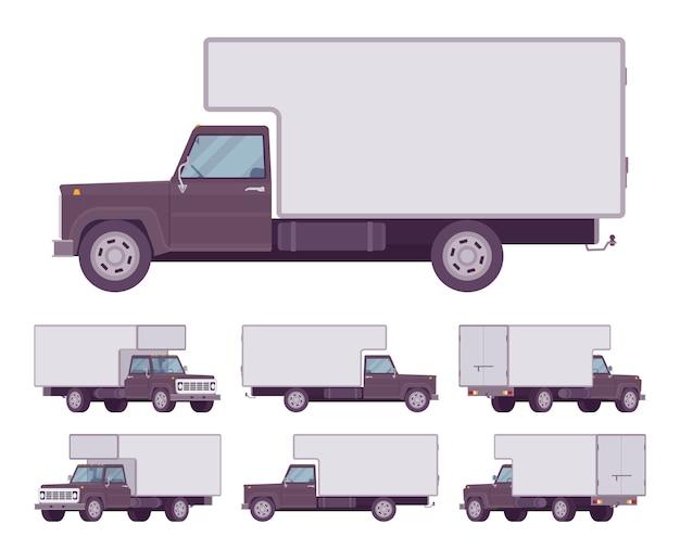 Zwarte vrachtwagenset