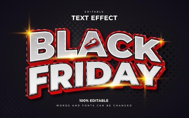 Zwarte vrijdag 3d-teksteffectenstijl
