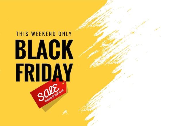 Zwarte vrijdag aankondiging verkoop