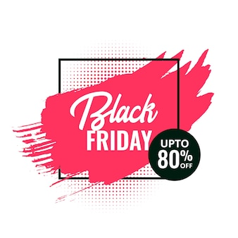 Zwarte vrijdag abstract splash verkoop bannerontwerp