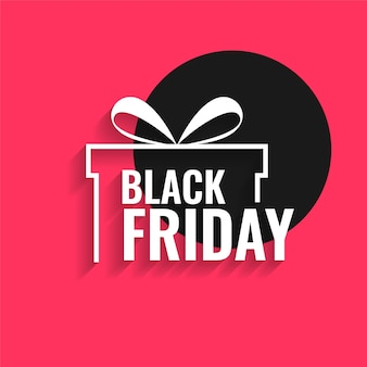 Zwarte vrijdag achtergrond met cadeau