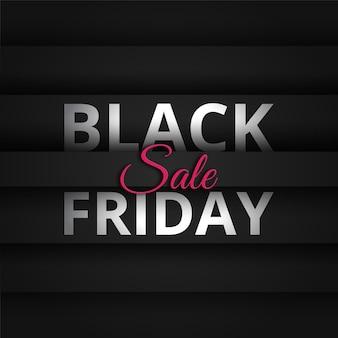 Zwarte vrijdag achtergrond met zwart verloop premium vector
