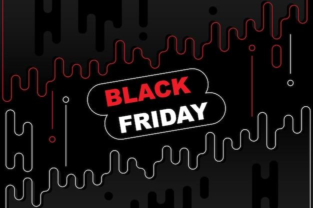 Zwarte vrijdag banner achtergrond met afgeronde vorm vector illustratie