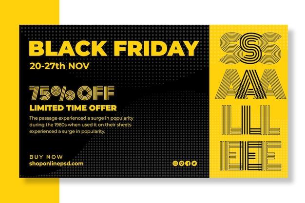 Zwarte vrijdag banner concept
