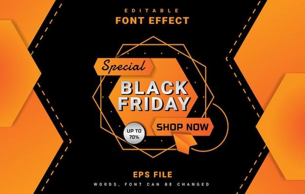 Zwarte vrijdag banner lettertype-effect