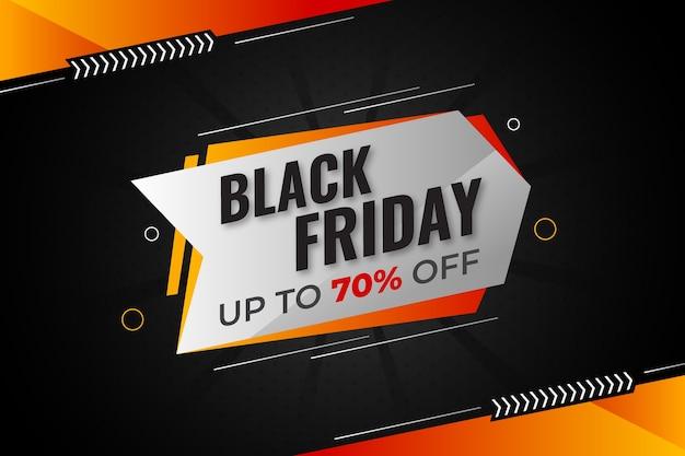 Zwarte vrijdag banner of verkoop banner kleurrijke ontwerpsjabloon