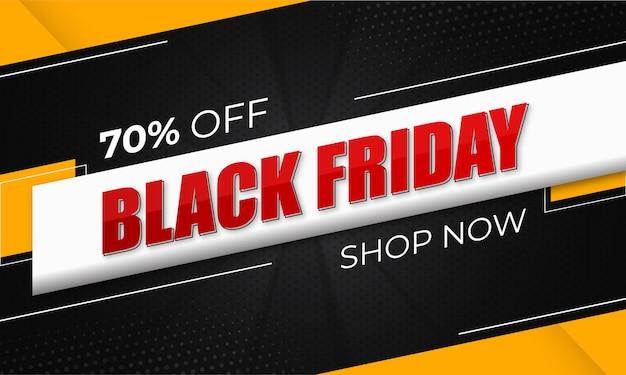 Zwarte vrijdag banner of verkoop banner ontwerp premium sjabloon