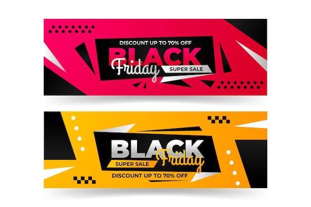 Zwarte vrijdag banner sjabloon thema