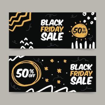 Zwarte vrijdag banner