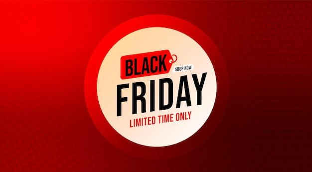 Zwarte vrijdag beperkte tijd alleen advertentiesjabloon