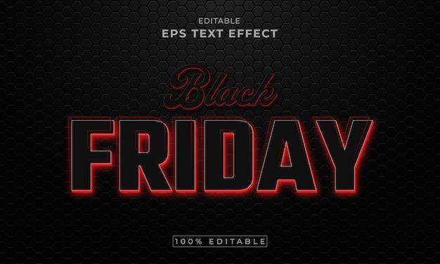 Zwarte vrijdag bewerkbare 3d-teksteffect premium vector premium vector