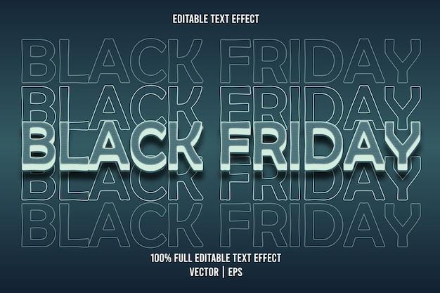 Zwarte vrijdag bewerkbare teksteffect blauwe kleur