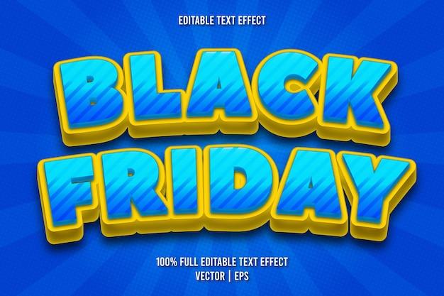 Zwarte vrijdag bewerkbare teksteffect komische stijl
