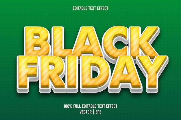 Zwarte vrijdag bewerkbare teksteffect retro-stijl