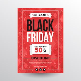 Zwarte vrijdag flyer-stijl