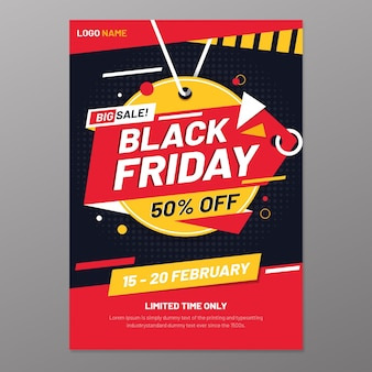 Zwarte vrijdag folder sjabloon