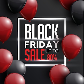 Zwarte vrijdag. grote verkoop flyer, spandoek, poster.