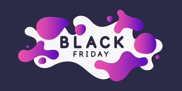 Zwarte vrijdag grote verkoop heldere abstracte achtergrond met dynamische spatten van minimalistische stijl