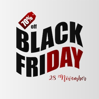 Zwarte vrijdag illustratie banner