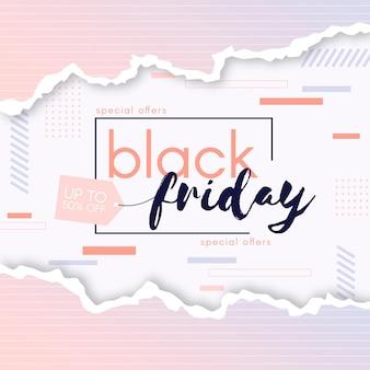 Zwarte vrijdag in papieren stijl