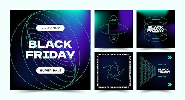 Zwarte vrijdag instagram post vector sjabloon