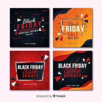 Zwarte vrijdag instagram postverzameling