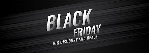 Zwarte vrijdag korting en deals bannerontwerp