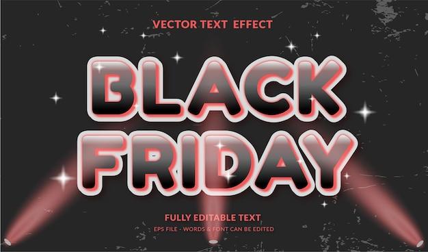 Zwarte vrijdag met bewerkbaar teksteffect in moderne stijl
