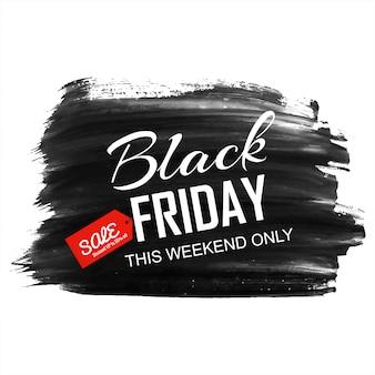 Zwarte vrijdag moderne verkoop met plons