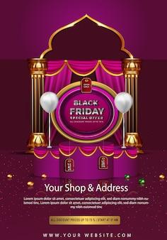 Zwarte vrijdag mooie verkoop alle kortingsprinsen tot poster
