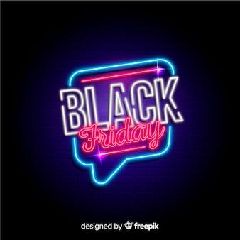 Zwarte vrijdag neon achtergrond