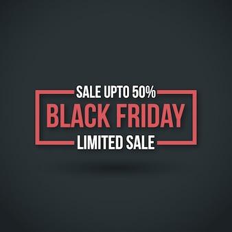 Zwarte vrijdag. nieuwe eenvoudige typografie op zwarte achtergrond