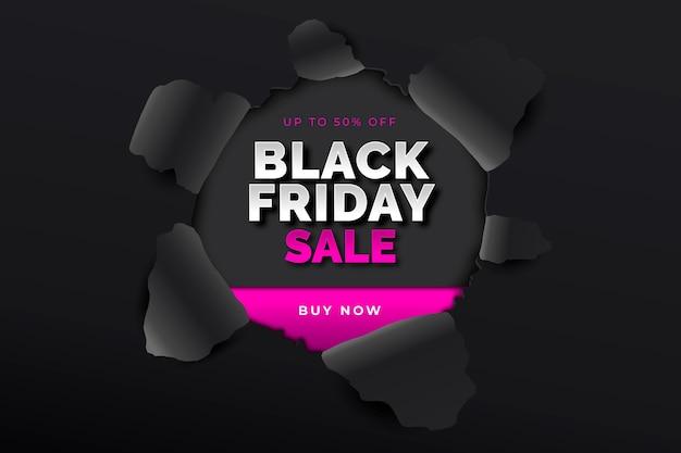Zwarte vrijdag op papier stijlachtergrond