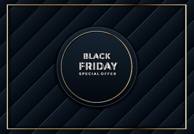 Zwarte vrijdag papier gesneden achtergrond abstracte realistische papercut decoratie geweven