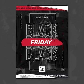 Zwarte vrijdag papieren poster