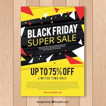 Zwarte vrijdag poster in zwart en geel
