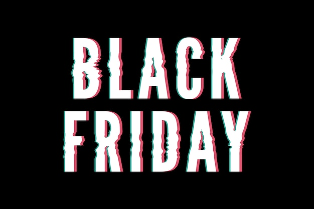 Zwarte vrijdag promo banner