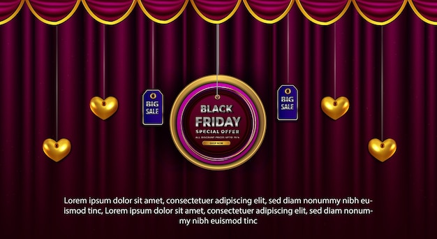 Zwarte vrijdag promotie banner speciale aanbieding