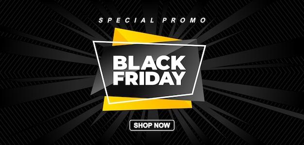Zwarte vrijdag promotie verkoop banner