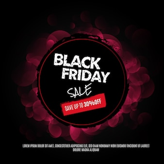Zwarte vrijdag sjabloon voor spandoek met ronde frame