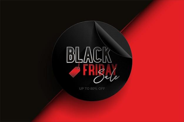 Zwarte vrijdag speciale aanbieding-label.