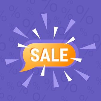 Zwarte vrijdag speciale aanbieding poster winkelen chat bubble speech met verkoop tekst vakantie promotie plat