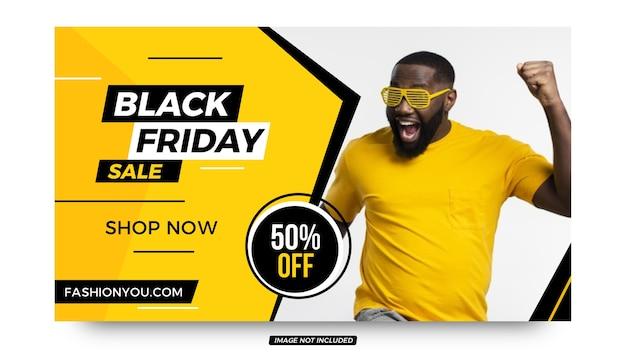 Zwarte vrijdag stijlvolle promotie-aanbieding banner ontwerpsjabloon