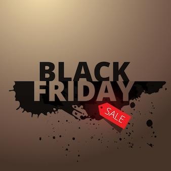 Zwarte vrijdag stijlvolle verkoop achtergrond