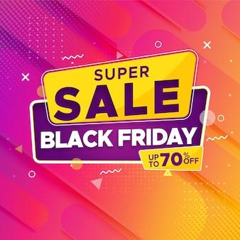 Zwarte vrijdag super verkoop banner